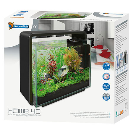 SuperFish Aquarium Home 40 Zwart