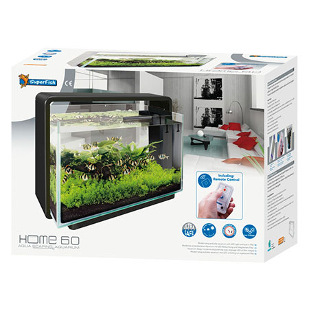 SuperFish Aquarium Home 60 Zwart