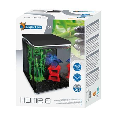 SuperFish Aquarium Home 8 Zwart