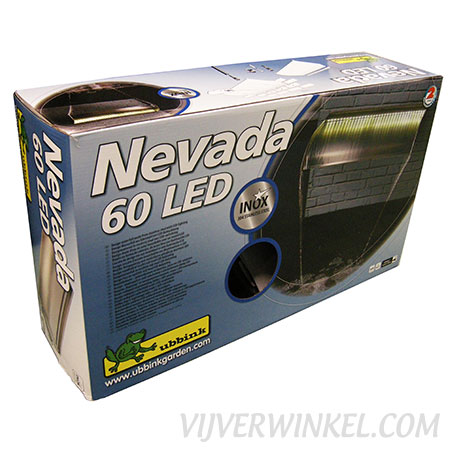 Ubbink Nevada 60 LED RVS waterval