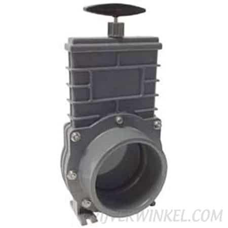 Valterra Schuifkraan 110 mm pvc blad, RVS 316 spindel