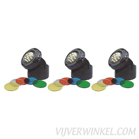 AquaForte Garden LED lamp - 3x1,6 Watt - met kleurschijven