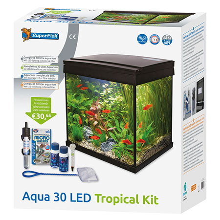 SuperFish lichtkap Aqua 30 LED tropical kit aquarium