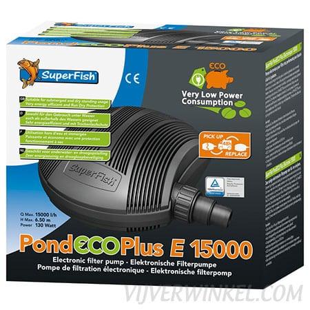 SuperFish vijverpomp PondECO Plus E 15.000 - 130 Watt